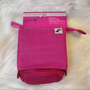 BNWT YOOBI Pink Standing Pencil Case